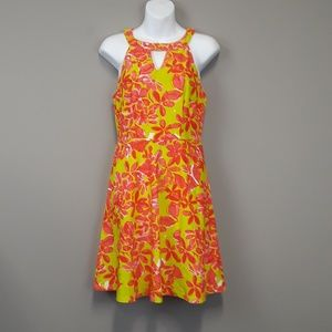 Aryeh floral fit and flare dress size small